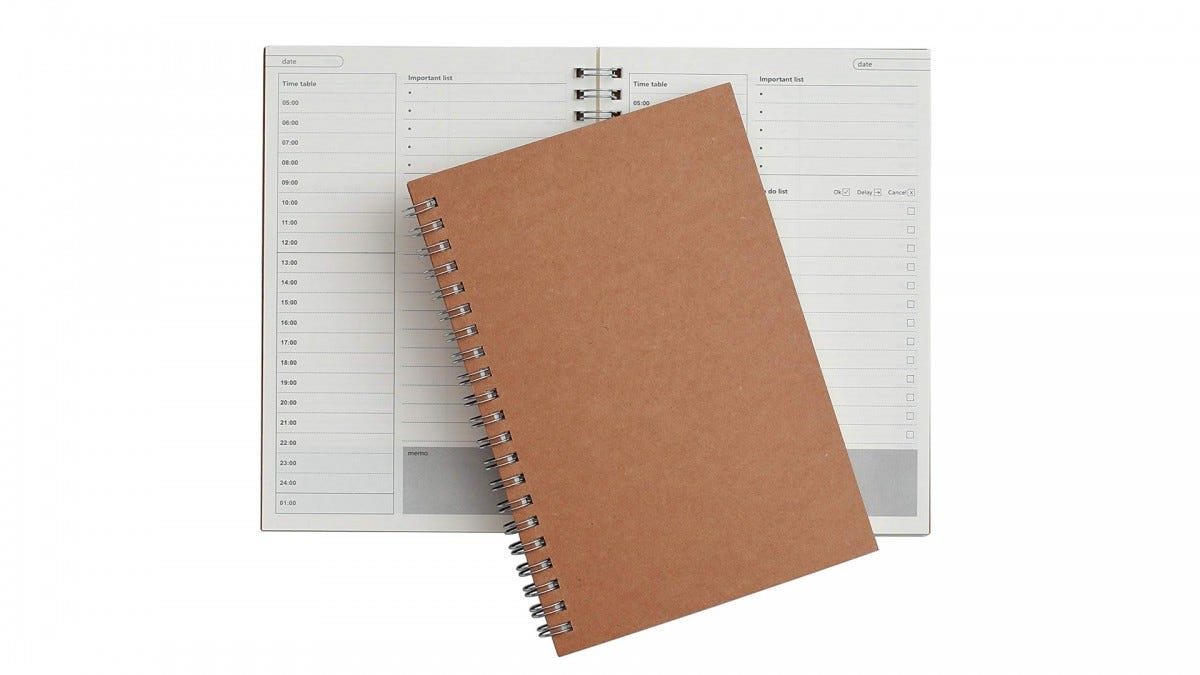 The TWONE 48-Page Daily Planner