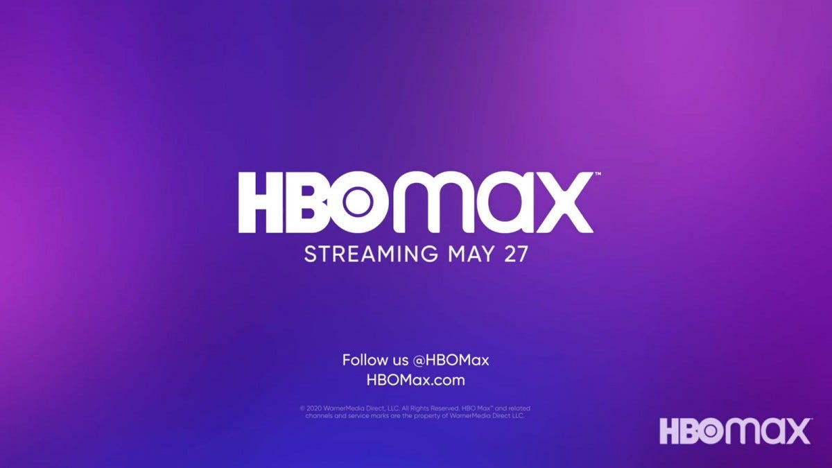 An HBO Max coming soon logo, specifying May 27th as a launch date.