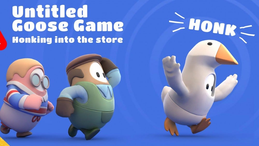 Untitled Goose Game costumes in Fall Guys