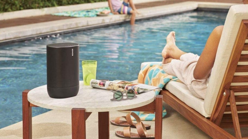 Sonos Move speaker at a pool
