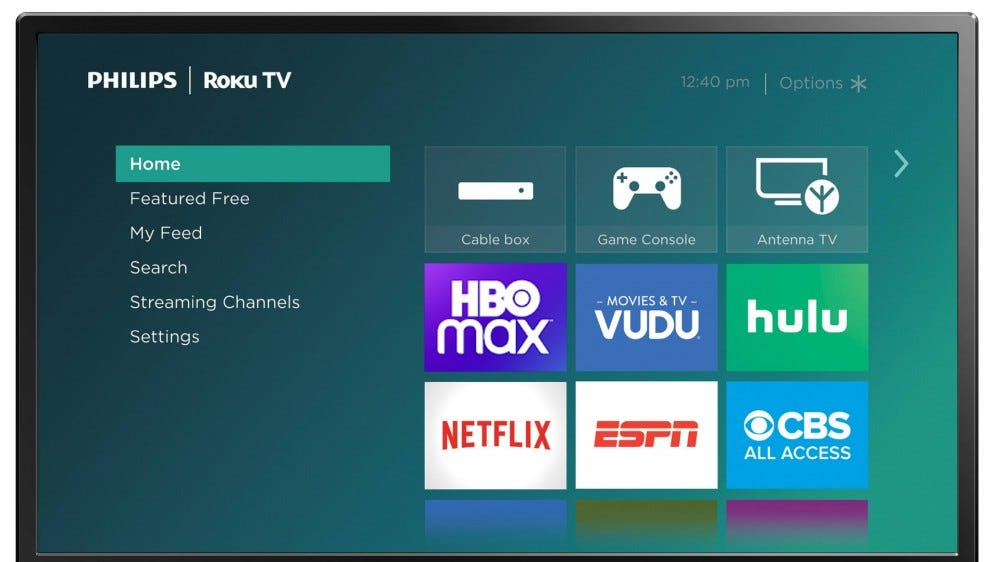 Philips Roku TV running HBO Max