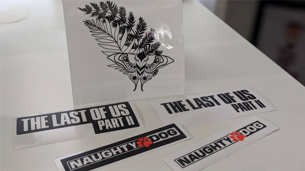 The Last of Us Part II Collector's Edition stickers