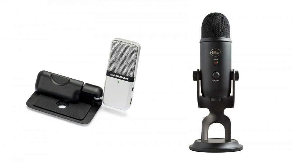 Samson Go Mic and Blue Yeti