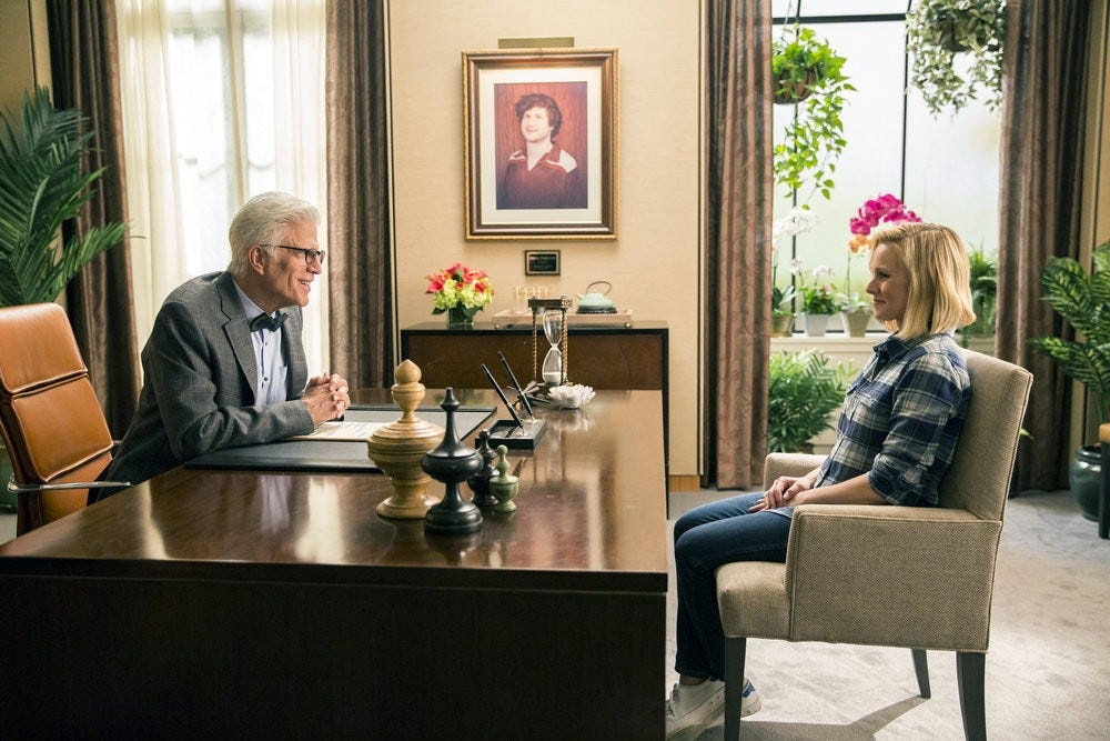 The Good Place Michael and Eleanor