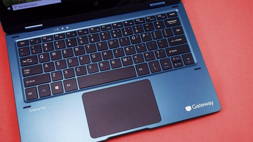Gateway 2-in-1 laptop keyboard