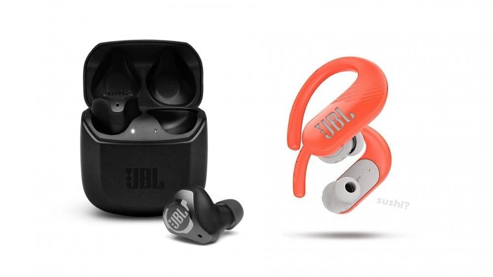 The new JBL Club Pro+ and Endurance Peak II earbuds.