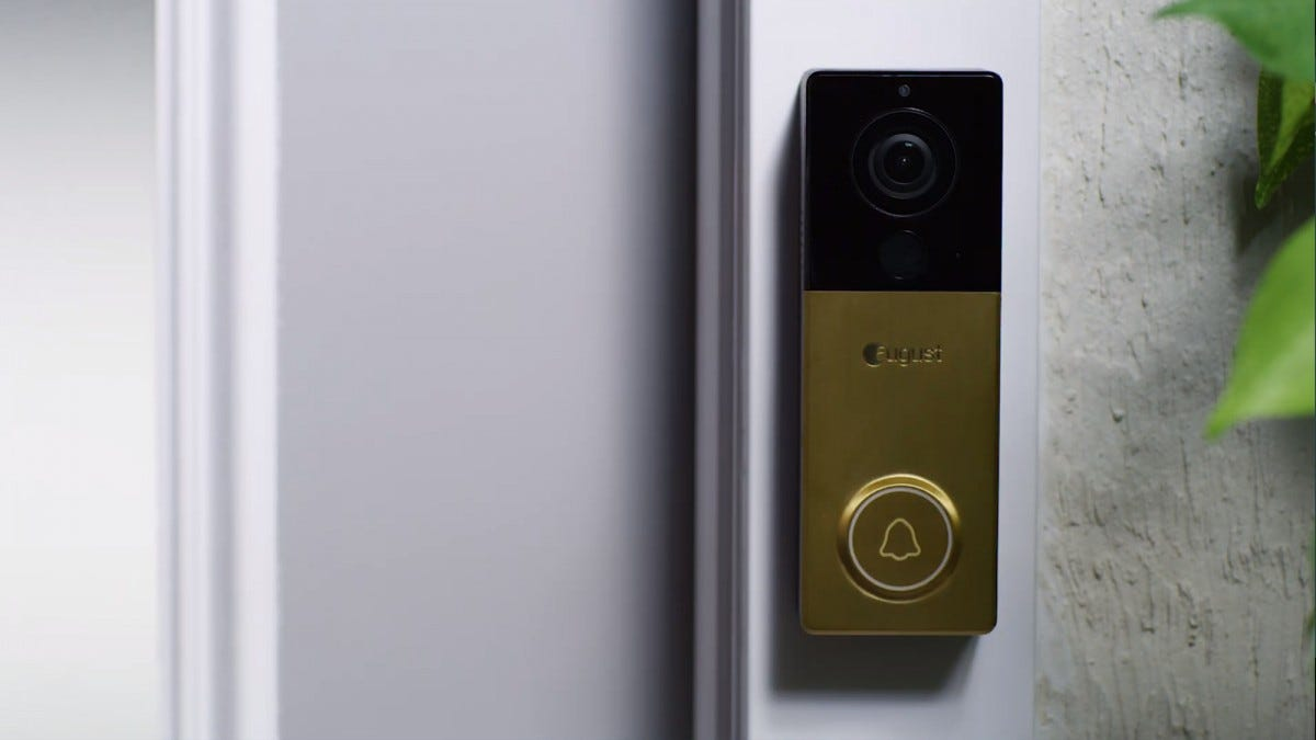 August's latest product is a battery-powered smart doorbell.