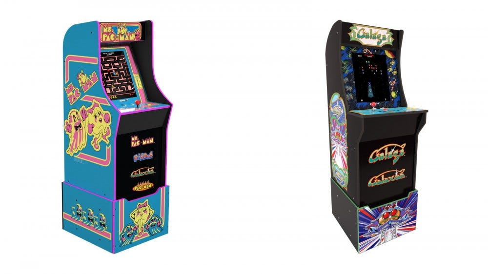 Mrs. Pac-Man and Galaga Arcade1Up Cabinets