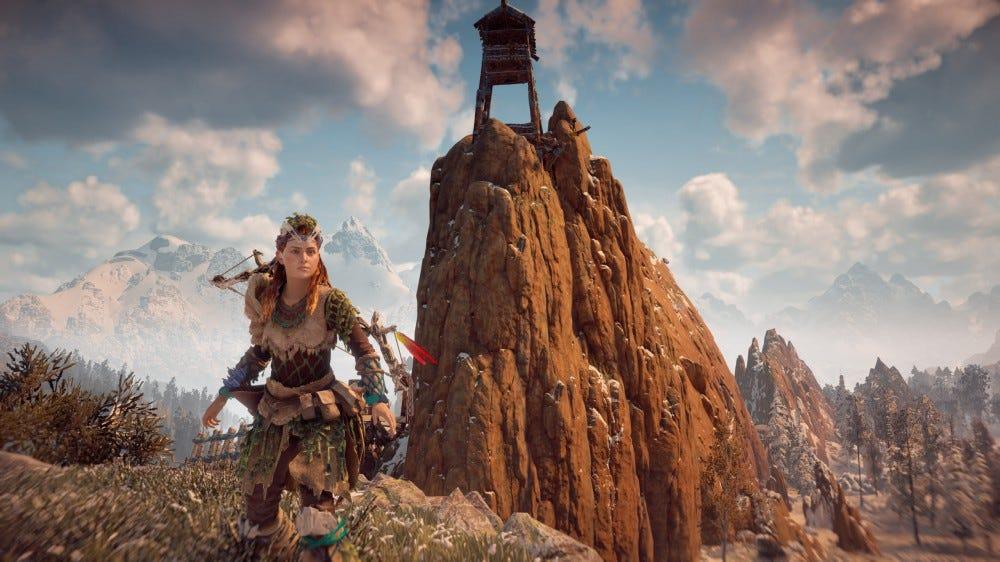 Horizon Zero Dawn screenshot with Garden of the Gods