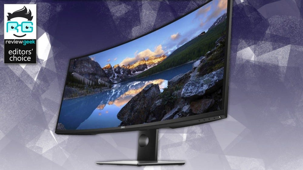 Dell Ultrasharp U3818DW monitor.
