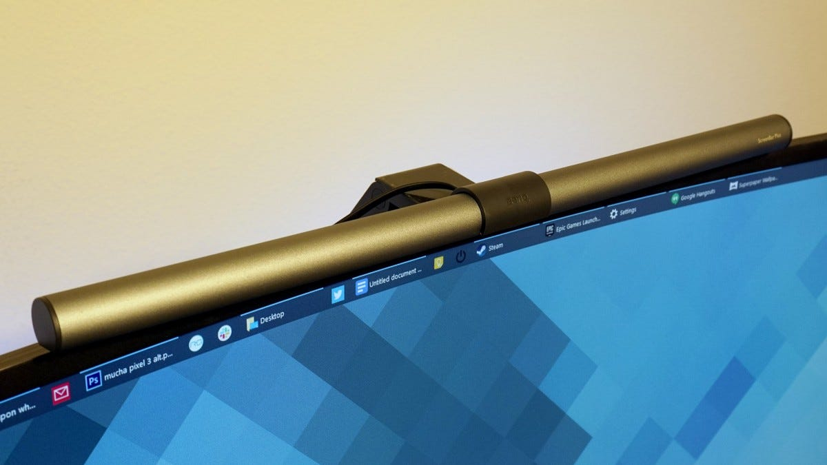 ScreenBar Plus from the side.