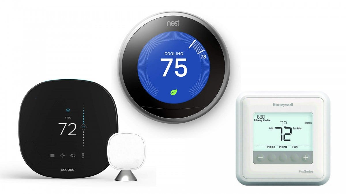 The Google Nest Learning Thermostat, the ecobee SmartThermostat, and the Honeywell Lyric T4