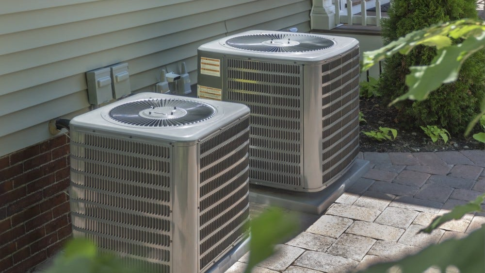 Plumbing heating and air conditioning housing or heat pumps