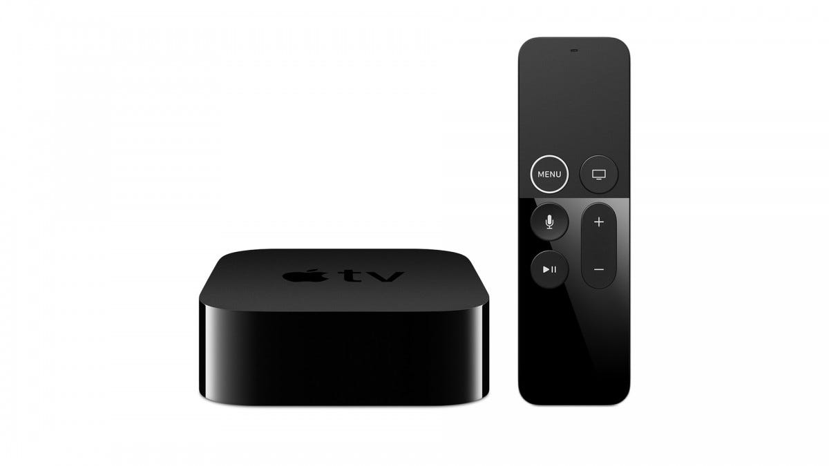 A photo of the Apple TV4K streaming box.