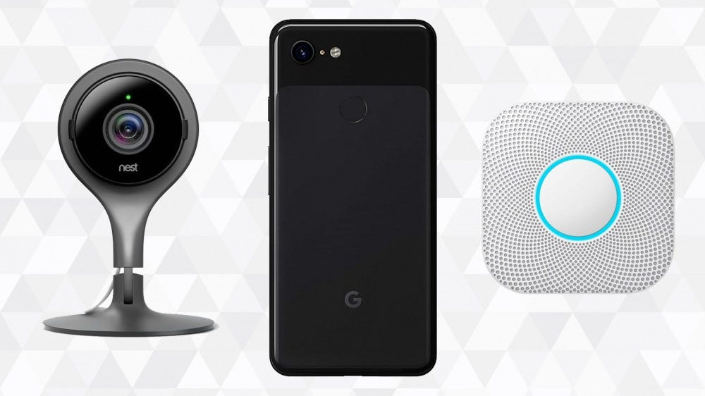 Google felújított termékek geometriai háttérrel