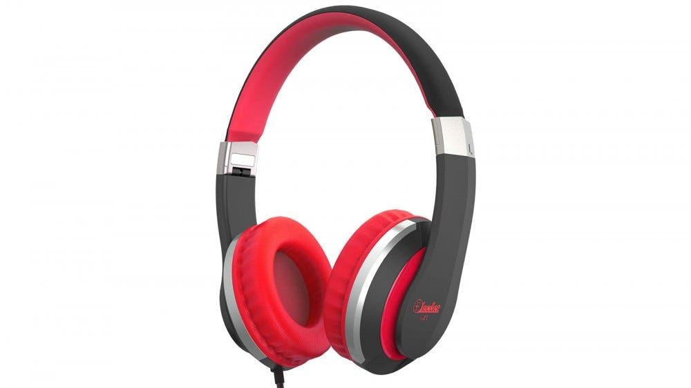 Elecder i41 headphones in black and red
