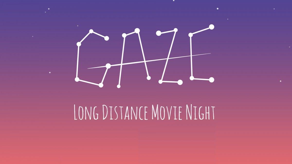 A screenshot of the Gaze website.