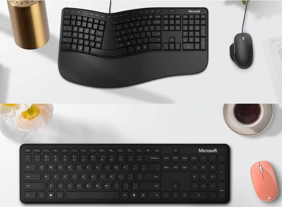 Microsoft Bluetooth and Ergonomic Keyboards