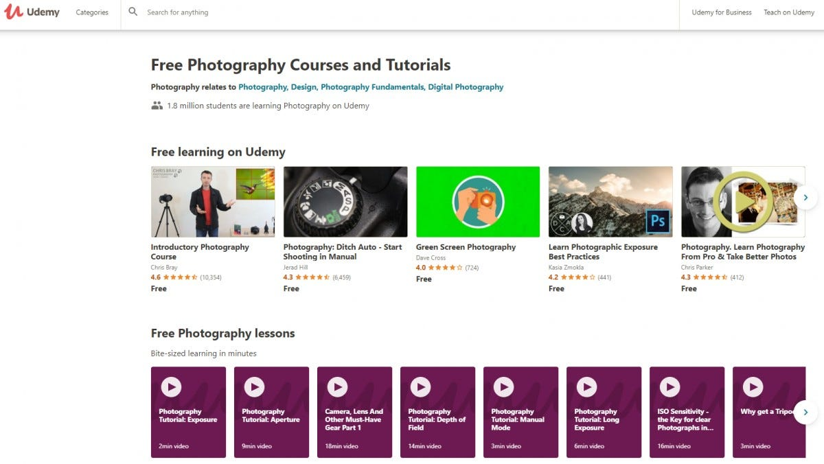 Udemy Digital Photography Courses