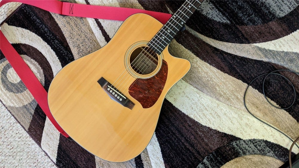 The Ibanez acoustic