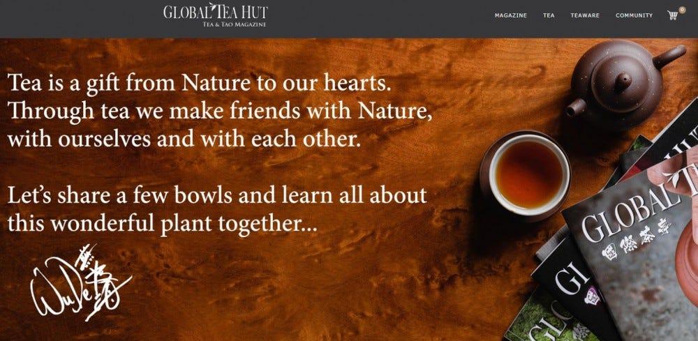 Global Tea Hut tea wisdom tea bags tea cup