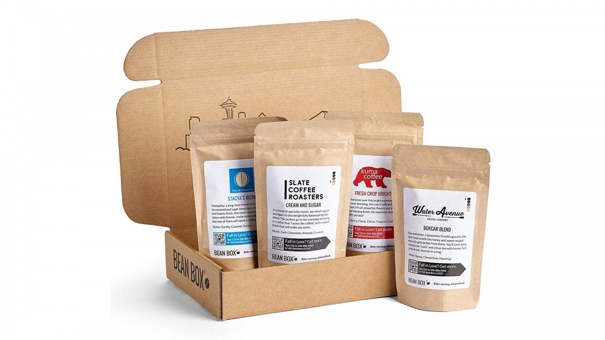 The Bean Box Gourmet Coffee Sampler