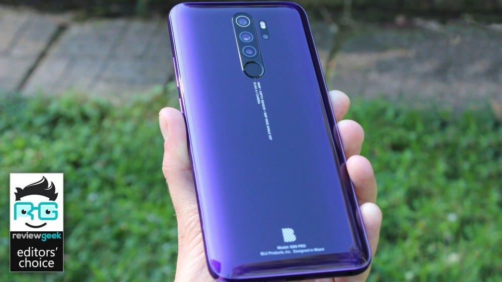 The Blu G90 Pro with its beautiful Purple Haze finish