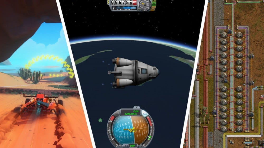 Trailmakers, Kerbal Space Program, Factorio