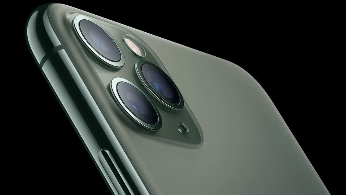 THe camera module of the iPhone 11 Pro.