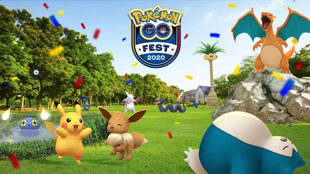 A Pokemon Go Fest 2020 banner.