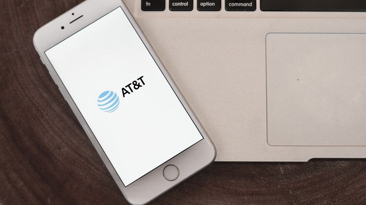 A photo of a phone on the AT&T app.