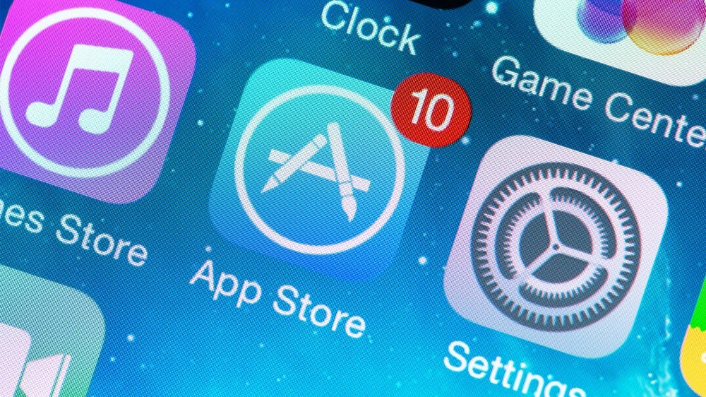 App Store icon on a phone screen