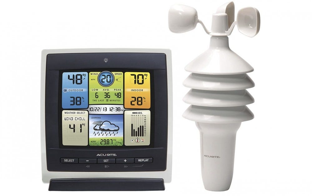 AcuRite weather and wind machine
