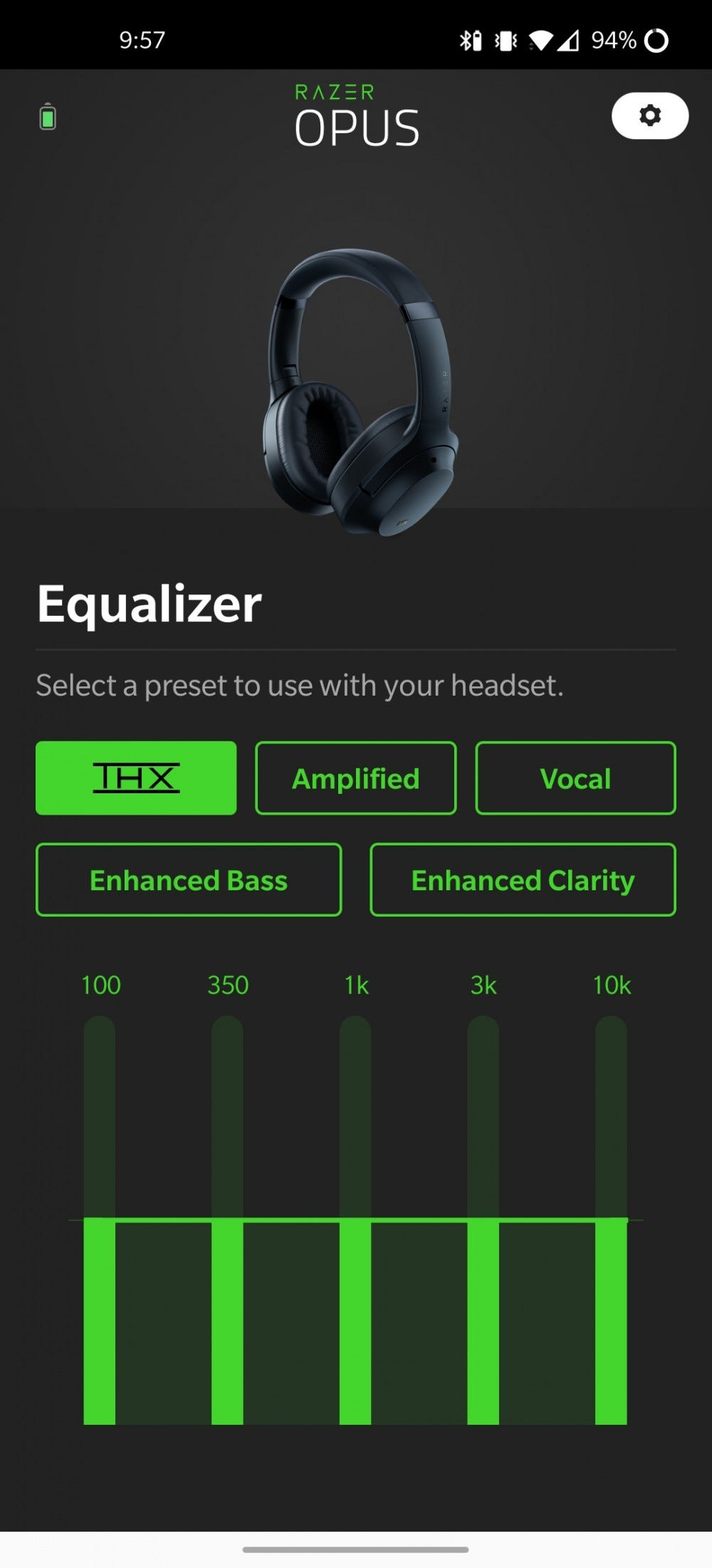 The Razer Opus app