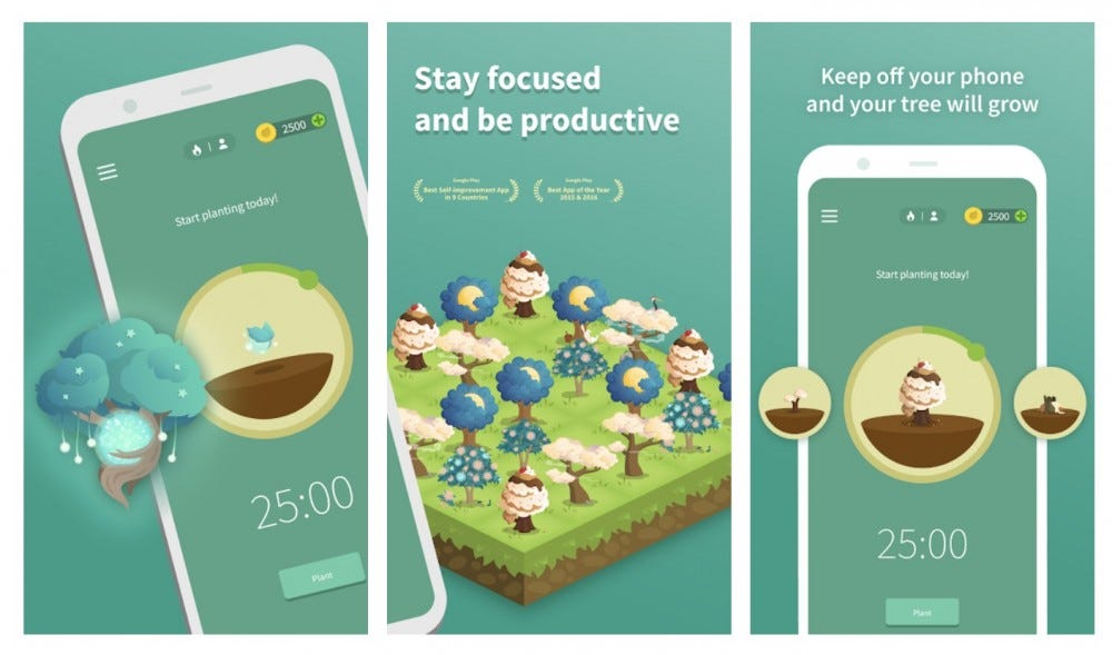 Forest tree growth app