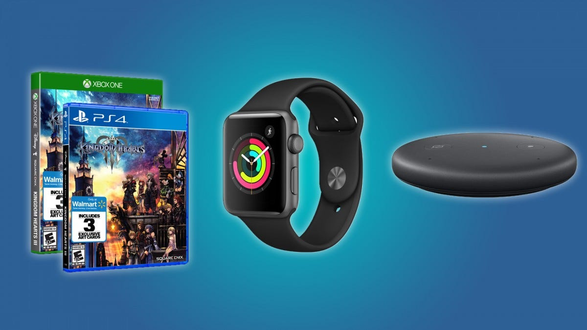 Kingdom Hearts III, the Apple Watch Series 3, and the Echo Input