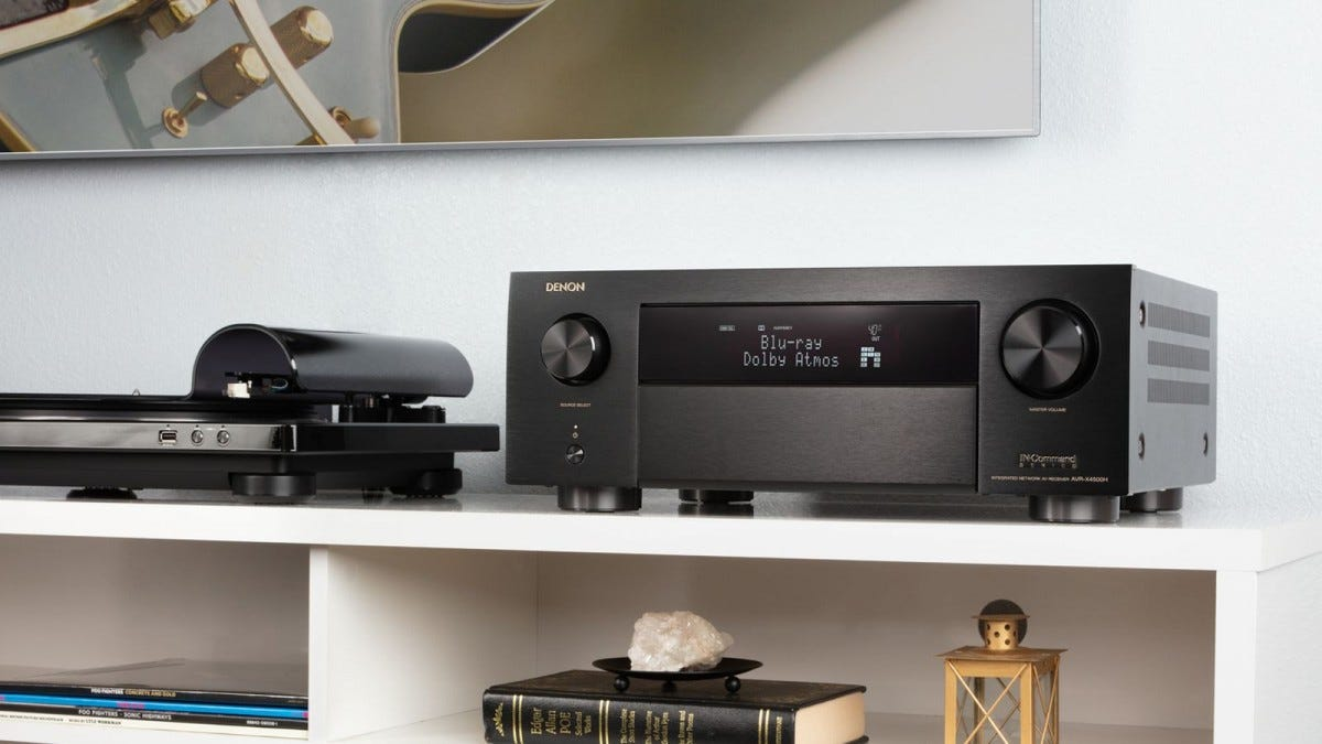 Denon AVR 4500H in setup with screen display active