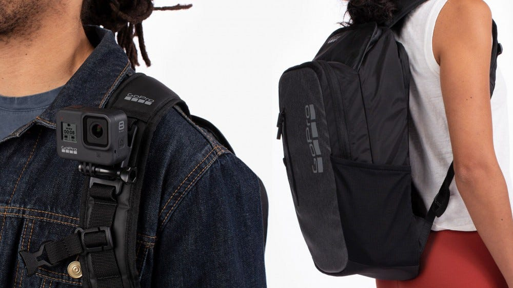 Photos of the GoPro Daytripper backpack.