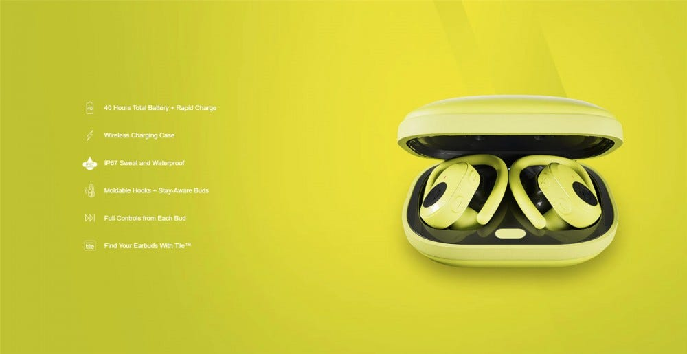 Skullcandy Push Ultra in Energized Yellow