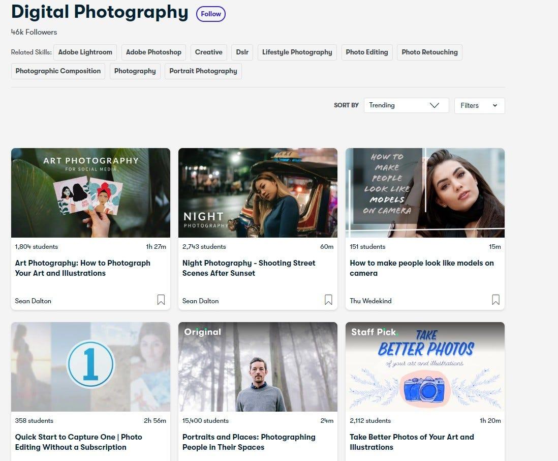 Skillshare Digital Photography Courses