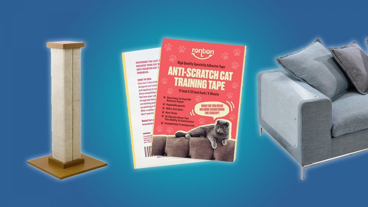 The Ultimate Scratching Post, Ronton's Anti-Scratching Tape, and IN HAND Furniture Scratch Guards