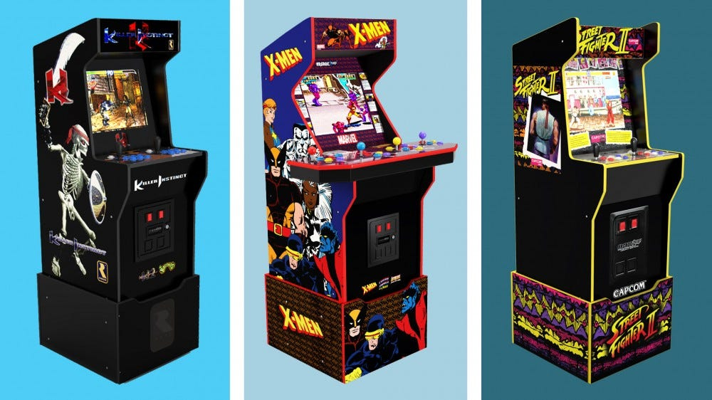 Three Arcade Machines side by side