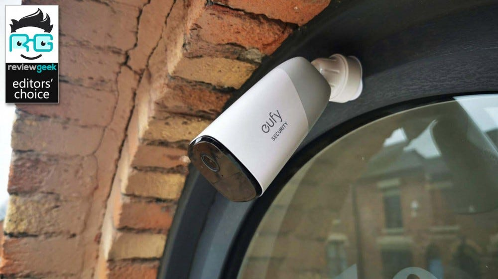 Image showing eufyCam 2 mounted above front door