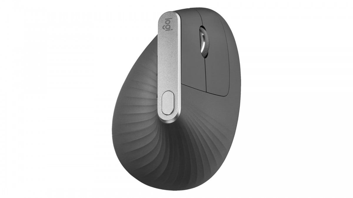 A photo of the Logitech MX Vertical mouse.