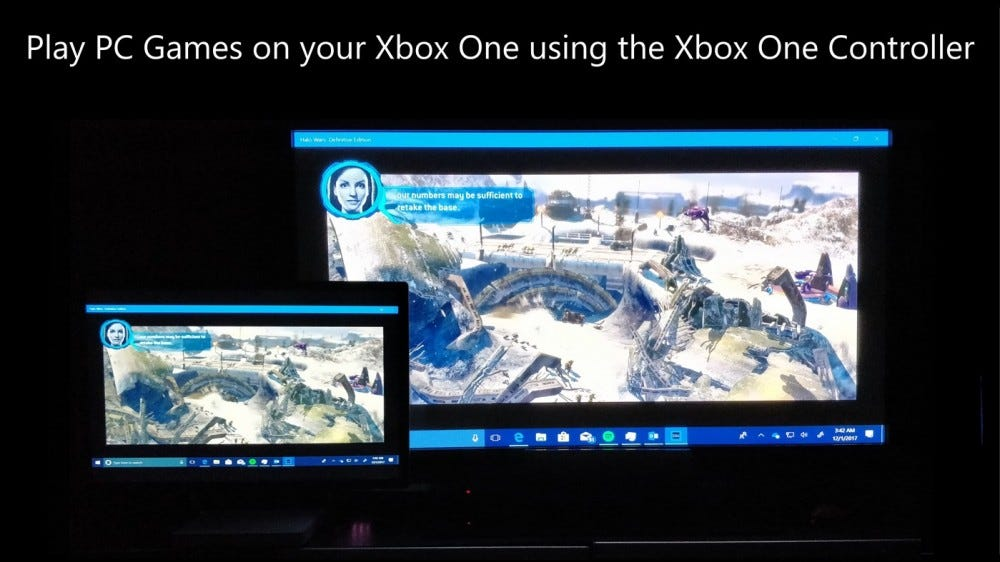 Xbox streaming example screenshot
