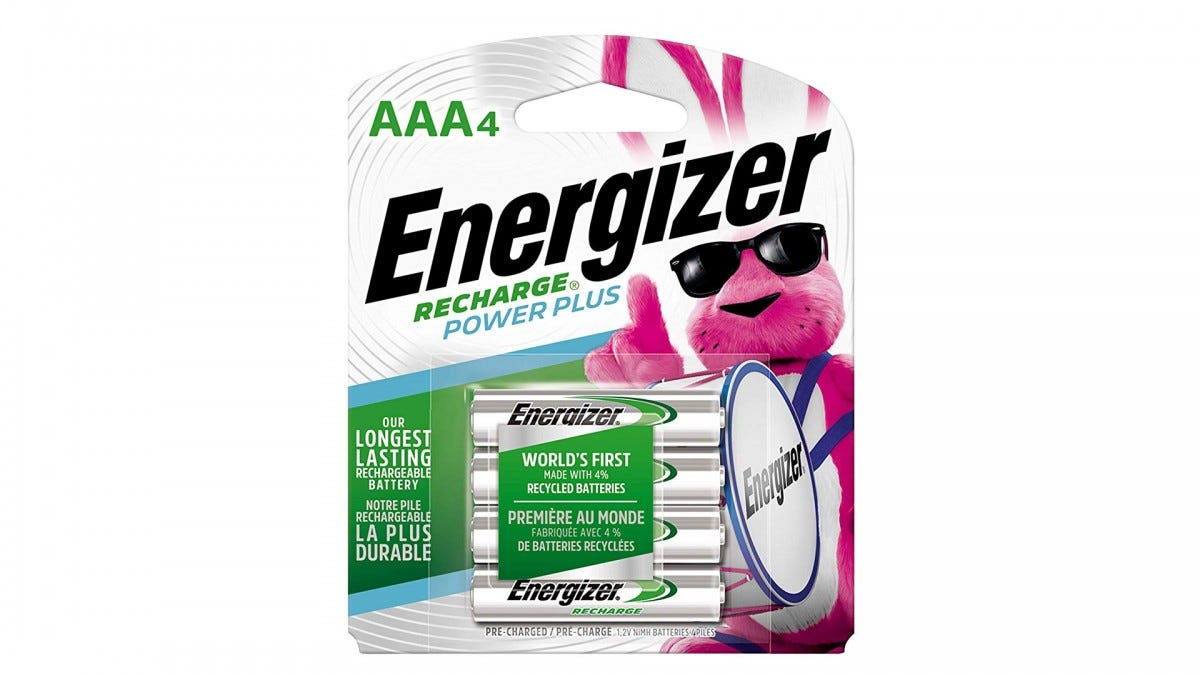 Energizer rechargable AAA batteries