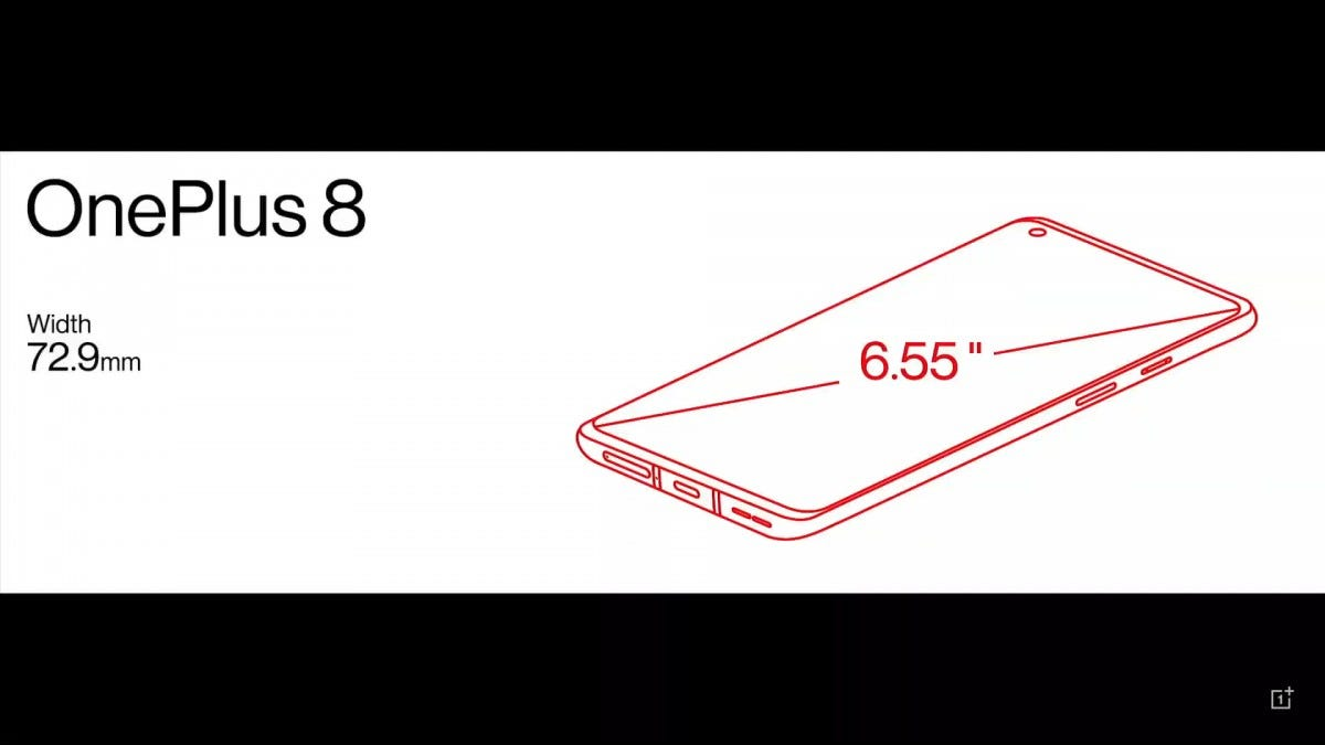 Mặc dù màn hình là 6,55 inch, điện thoại mỏng.