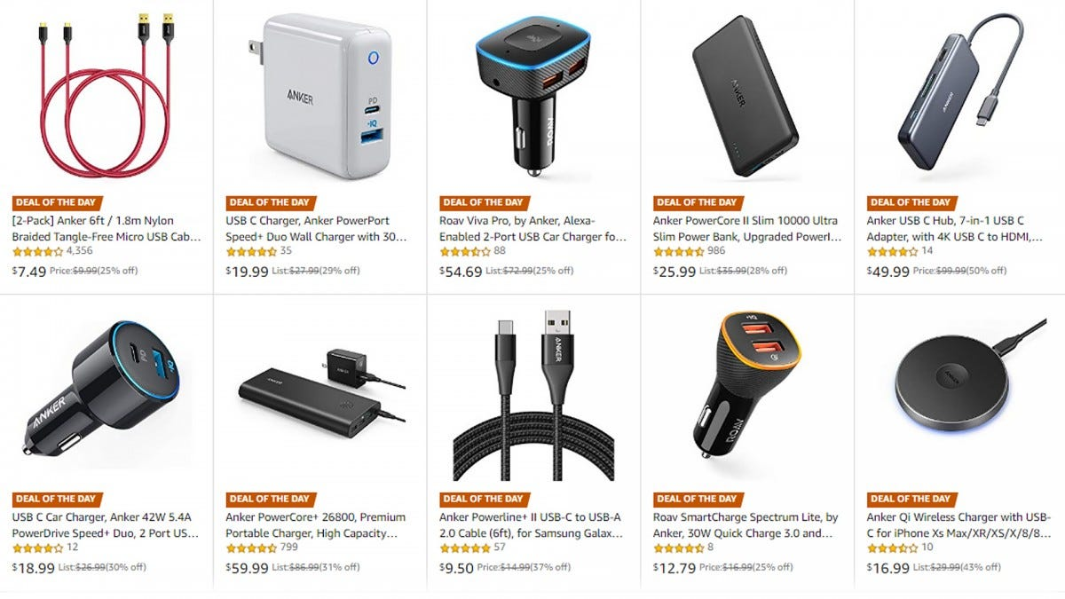 Anker sale on Amazon