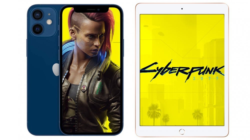 A photo of Cyberpunk 2077 on the iPhone and iPad