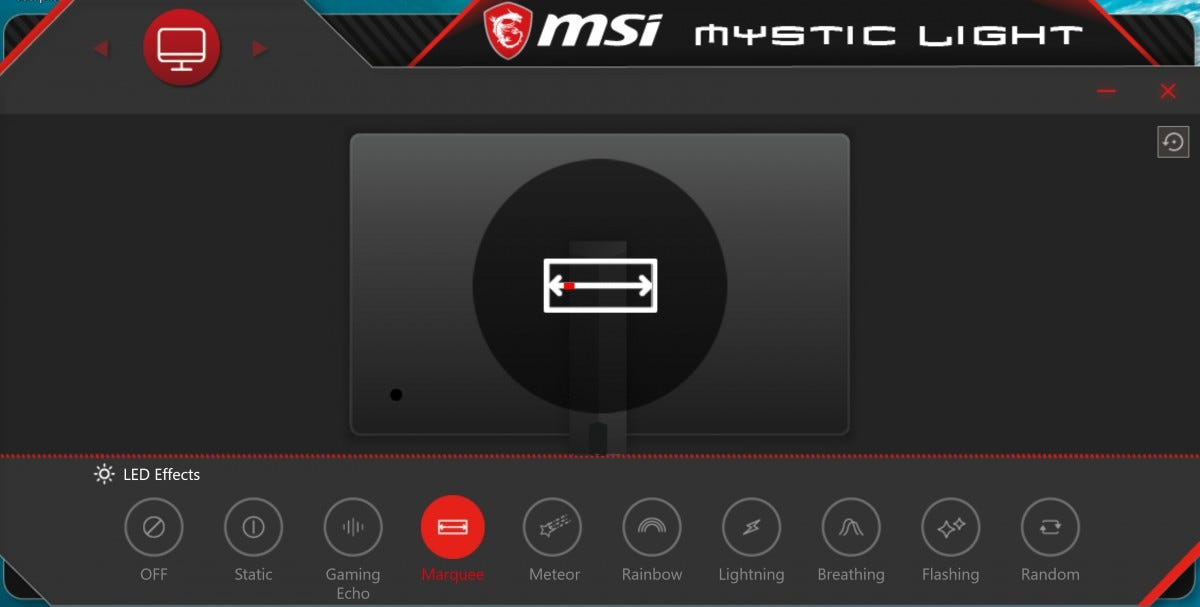 MSI Optix MAG272CQR lighting software.